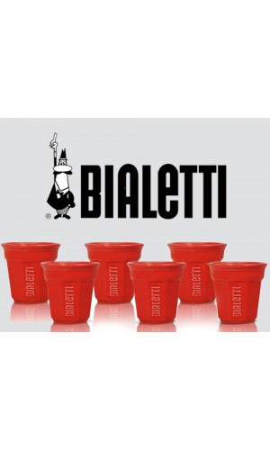 Bialetti Cups Red 6 pack