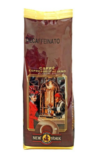 Caffe New York Espresso decaffeinated beans 250g