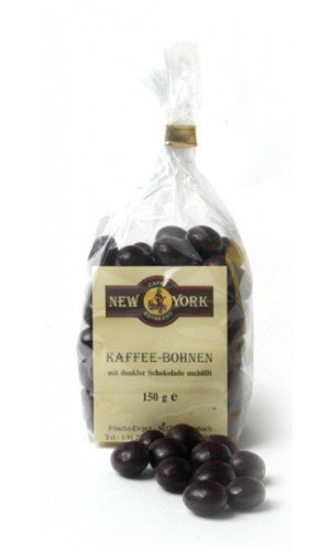 Caffe New York coffeebeans in dark chocolate