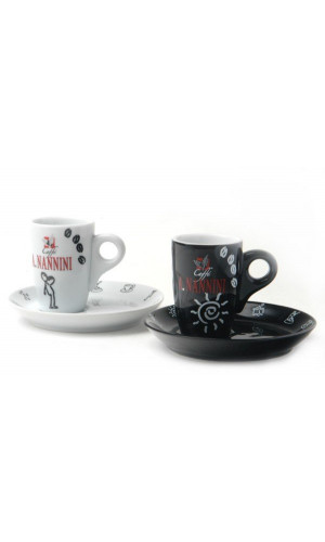 Nannini Espresso Cup Black and White