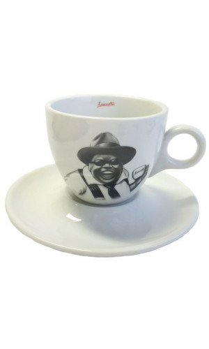 Lucaffe Cappuccino cup b/w Mr. Exclusive