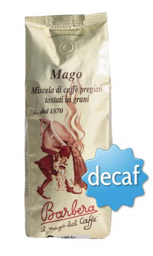 Barbera Mago coffee decaffeinated 500g beans