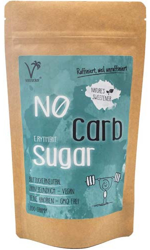 "No carb sugar - Erythrit Sugar from ""Vollzucker"""
