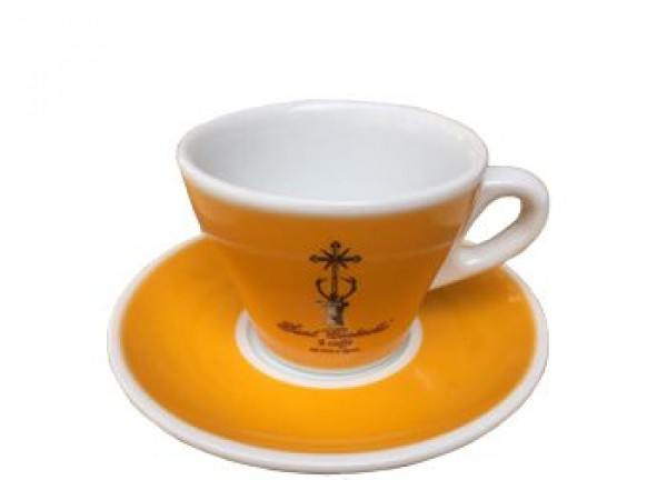 Decaf Coffee Cup And Saucer Showing Restaurant Cafeteria And..