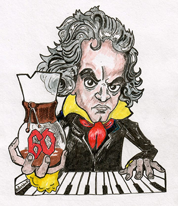 Beethoven and his coffee